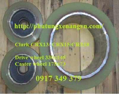 Tire wheel PU Clark CRX18