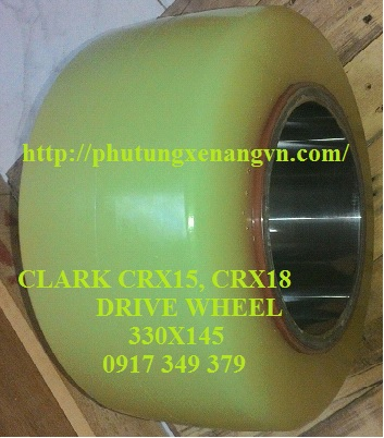 Tire wheel PU Clark CRX25